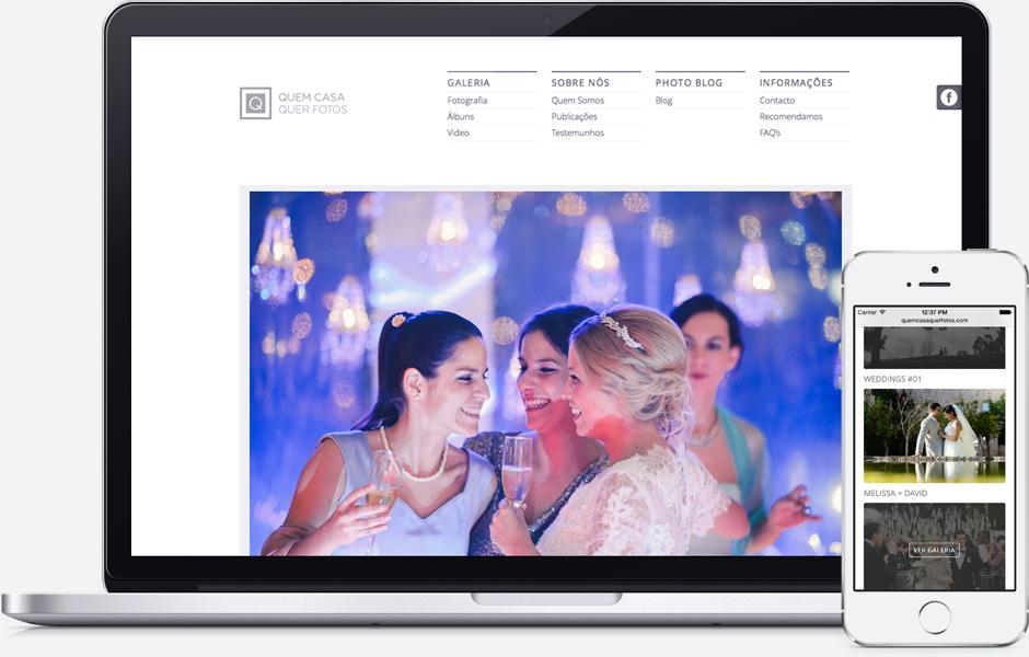 web design responsivo, Quem Casa Quer Fotos