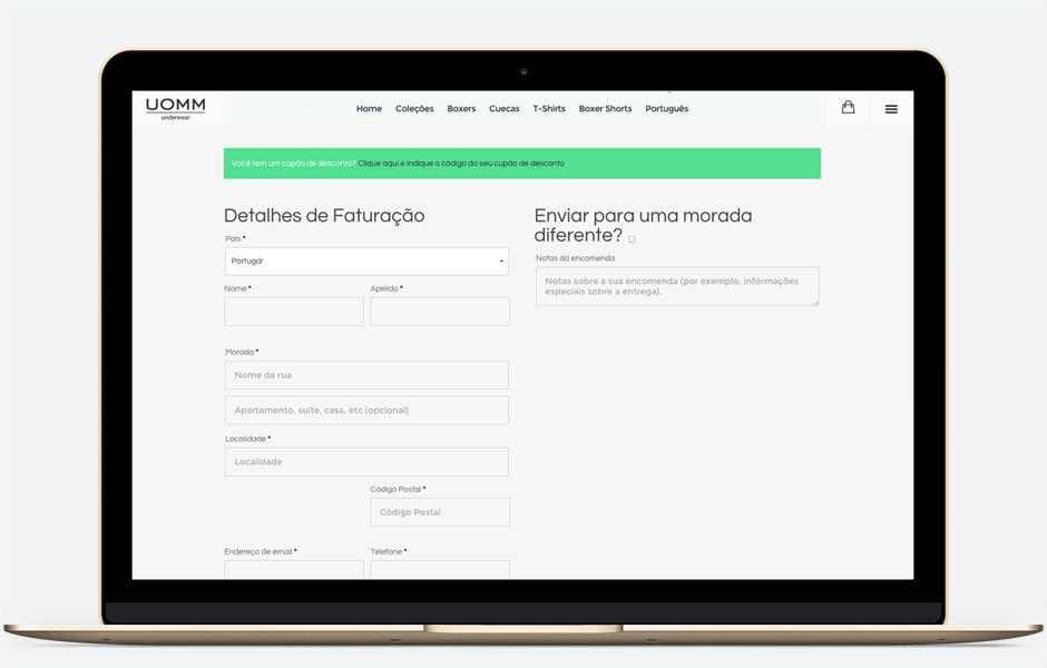 web design responsivo - loja online - braga