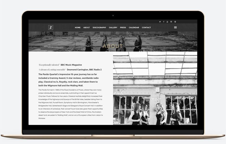 web design pavaoquartet