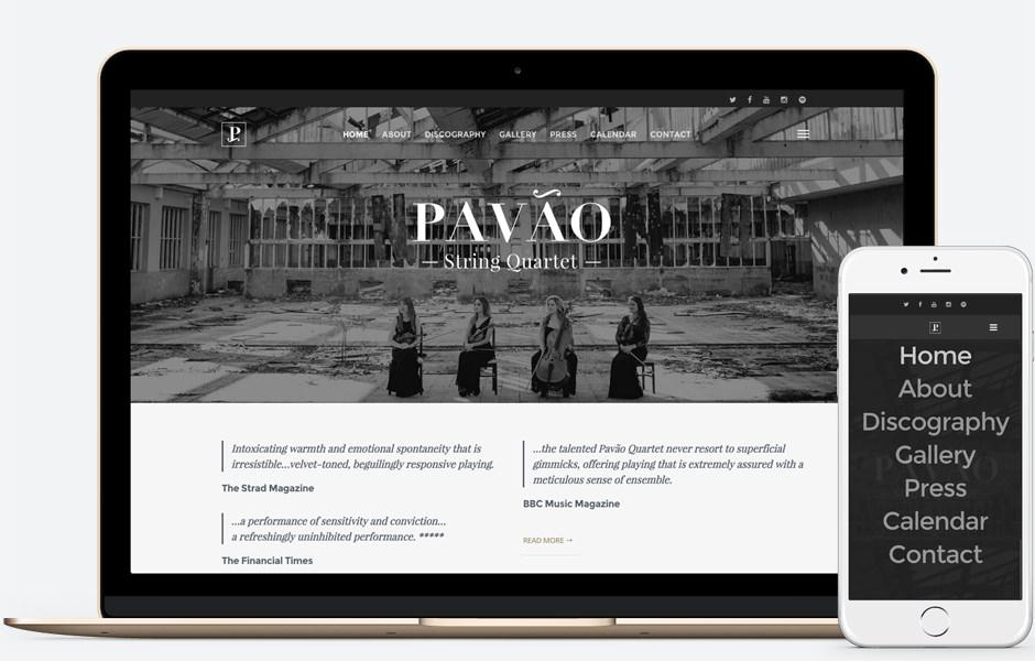 Web Design Responsivo | Pavão Quartet
